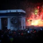 Феєрверки в ході протистоянь на вулиці Грушевського 20 січня 2014 року /Ганна Грабарська/