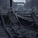 Замерзлий та спалений автобус правоохоронців на вулиці Грушевського, ранок 20 січня 2014 року /Сергій Моргунов/