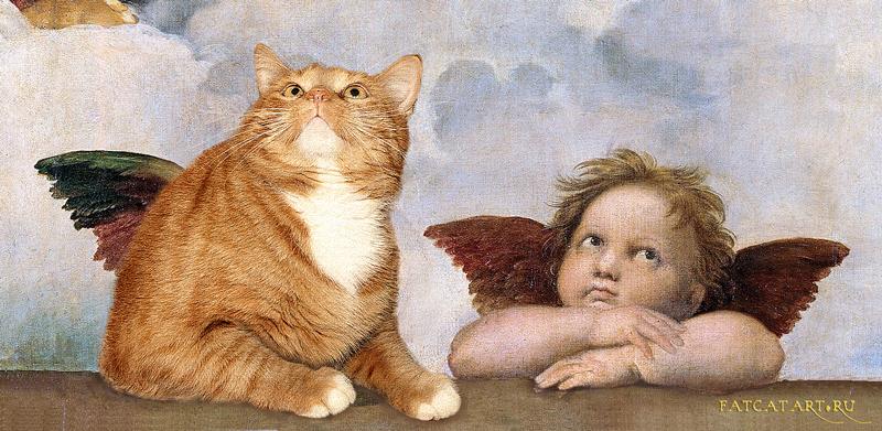Просто добавь кота - юмор в искусстве))