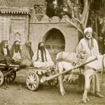 Women on horse-drawn cart