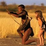 Девочка Типпи и африканский абориген