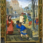 1444167608-workshop-of-simon-bening.-calendar-scene-for-march-gardening-and-felling-trees-1520-1530